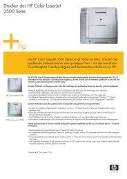 Drucker der HP Color LaserJet 3500 Serie