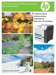 HP Color LaserJet CP3525 User Guide - DEWW