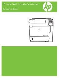 HP LaserJet P4010 and P4510 Series Printers User Guide - DEWW