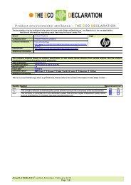 HP Pavilion p6 PC_IT ECO Declaration