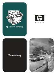 HP LaserJet 4345mfp Series - User Guide - DEWW - Kopiererhaus.de
