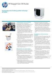Technische Daten zum Designjet Color 3D-Drucker von - Plotter ...