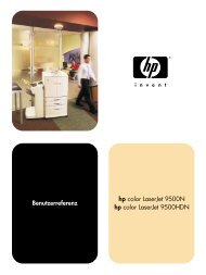 HP color LaserJet 9500n and 9500hdn user reference - deww