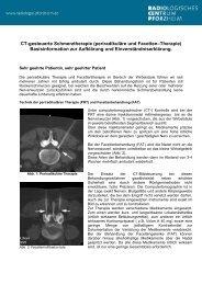 Informationsblatt zur CT-gesteuerten Schmerztherapie als PDF zum
