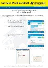 HP Druckkopfreinigung WinXP.cdr - Cartridge World Deutschland
