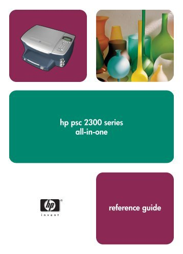 hp psc 2300 series all-in-one reference guide