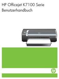 HP Officejet K7100 Serie Benutzerhandbuch