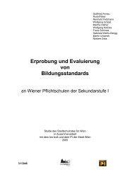 Erprobung und Evaluierung von Bildungsstandards - Referat für ...