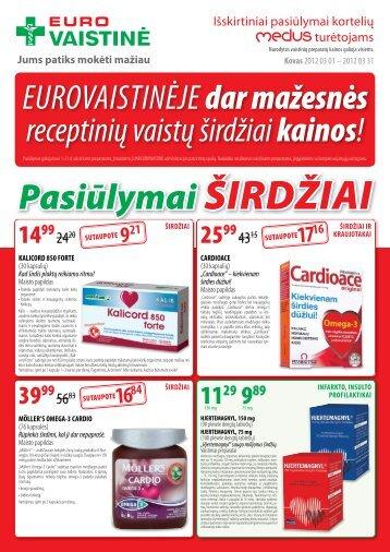 Pasiūlymai ŠIRDŽIAI - Eurovaistinė