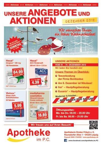 UNSERE ANGEBOTEUND AKTIONEN - Apotheke-im-pc.de