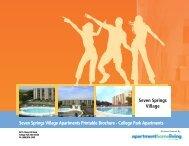 Seven Springs Village Apartments Printable Brochure - College ...