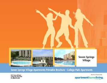 Seven Springs Village Apartments Printable Brochure - College ...