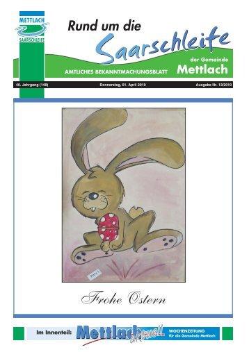 Frohe Ostern - Gemeinde Mettlach