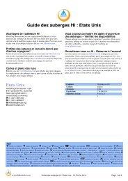 Guide des auberges HI : Etats Unis Etats Unis - Hostelling ...
