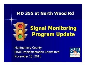 Signal Monitoring Signal Monitoring Program Update g