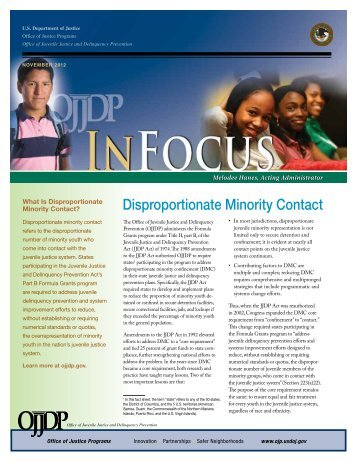Disproportionate Minority Contact - Office of Juvenile Justice and ...