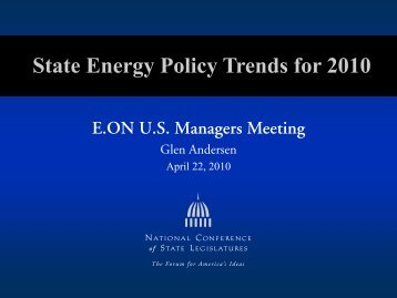 E.ON U.S. Managers Meeting - National Conference of State ...