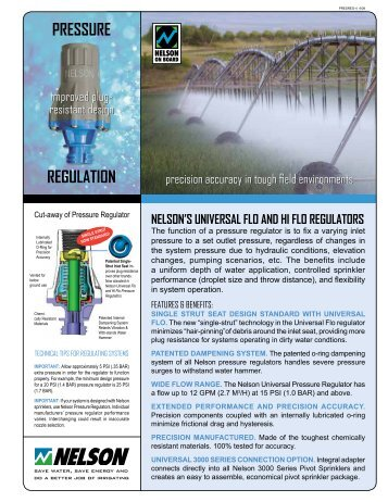 PRESSURE REGULATION - Nelson Irrigation