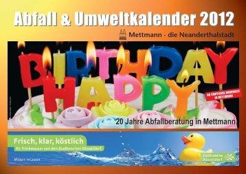 Abfall & Umweltkalender 2012 - Awista
