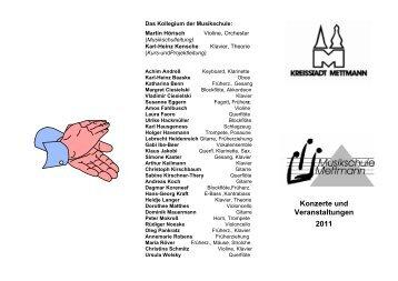 Projektjahr 25 Jahre Musikschule Mettmann