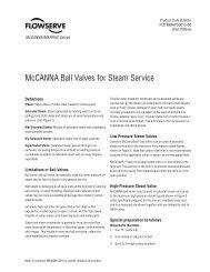 McCANNA Ball Valves for Steam Service - Flowserve Corporation