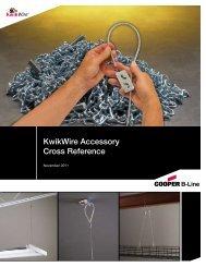 KwikWire Accessories Cross Reference Sheet - Cooper Industries