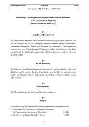 Benutzungs- und Entgeltordnung der ... - Stadt Mettmann