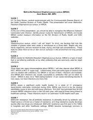 Methicillin-Resistant Staphylococcus aureus (MRSA) - Epidemiology ...