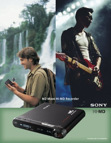 MZ-M200 Hi-MD Recorder - Sony