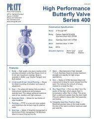 High Performance Butterfly Valve Series 400 - Henry Pratt Company