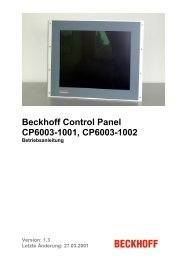 Beckhoff Control Panel CP6003-1001, CP6003-1002 - download ...
