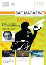 SAE Magazin 2-2010 - SAE Alumni Association - SAE Institute