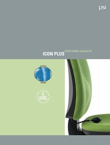 PSi - ICON PLUS 4pp A4 Brochure - PSI Seating