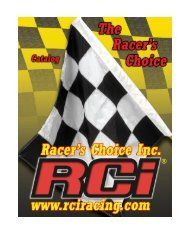 Page 1 Page 2 Racer's Choice Inc. Poly Seats are Strong with ...