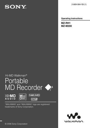 Portable MD Recorder - Faculty of Art & Design