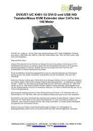 DVXi/ET-UC K461-1U DVI-D und USB HID Tastatur/Maus ... - Extender