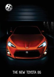 THE NEW TOYOTA 86