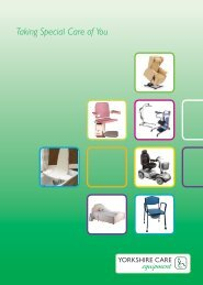 Taking Special Care of You - Yorkshire Care Equipment