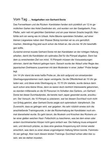 Vom Tag ... festgehalten von Gerhard Donie Das Fernsehteam und ...