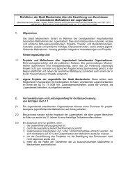 Richtlinien über die  Gewährung von Zuschüssen zu Maßnahmen