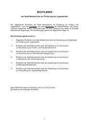 Richtlinien zur Förderung der Jugendarbeit - Stadt Meckenheim