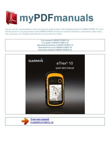user manual garmin etrex legend cx 1 my pdf manuals rh yumpu com garmin etrex user manual garmin etrex 30 user manual