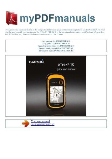 user manual garmin etrex legend cx 1 my pdf manuals rh yumpu com garmin etrex vista hcx user manual garmin etrex vista user manual