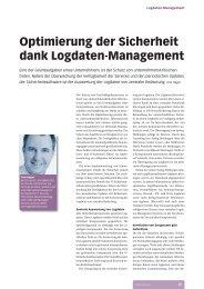 Optimierung der Sicherheit dank Logdaten ... - InfoTrust AG