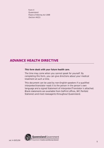 an analysis of the advance directive a legal document in oklahoma Myths and facts about health care advance directives care advance directives living will – a document in which you state your wishes doctors still have a legal.