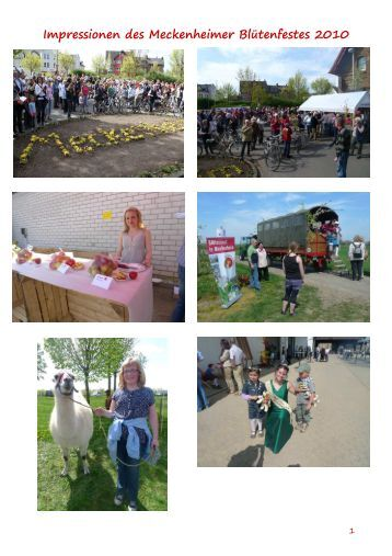 Impressionen des Meckenheimer Blütenfestes 2010