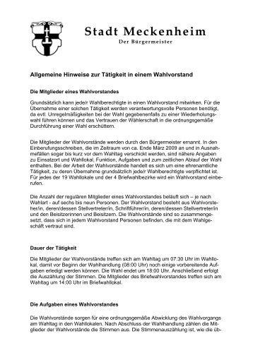 Wahl 2009 - Stadt Meckenheim