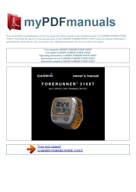 Open forerunner 310xt   george kelaidis blog.