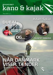 NÅR DANMARK VISER TÆNDER - Dansk Kano og Kajak Forbund