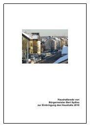 Haushaltsrede - Stadt Meckenheim